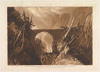 Devil's Bridge - Little Devil's Bridge (1809) by J. M. W. Turner