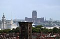 Liverpool Anglican cathedral from tower of St Hilary's, Wallasey.jpg