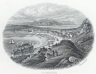 Llandudno: from the hill behind the baths
