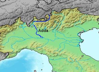 Adda (river) - Image: Location Adda River