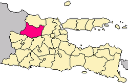 Location within East Java