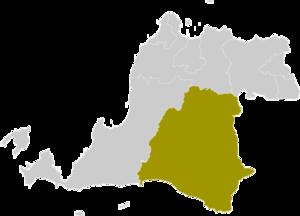Lebak Regency - Image: Locator kabupaten lebak