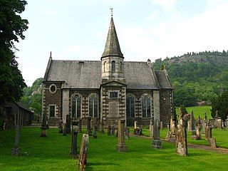 Logie Kirk architectural structure in Stirling, Scotland, UK