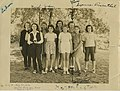 Lois Greene (back right), Shelter Rock Day Camp, 1946 (7680417222).jpg