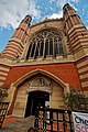 London - Sloane Street - View East & Up on Holy Trinity Sloane Street - Holy Trinity Sloane Square - The Church of the Holy and Undivided Trinity 1888-90 by John Dando Sedding - Arts & Crafts Design.jpg