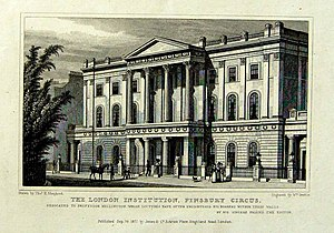 London Institution - London Institution, etching by William Deeble