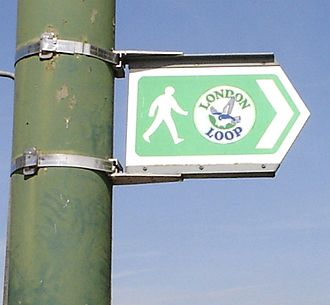 London Outer Orbital Path - The London LOOP's logo, a flying kestrel, can be seen on the signs marking the route