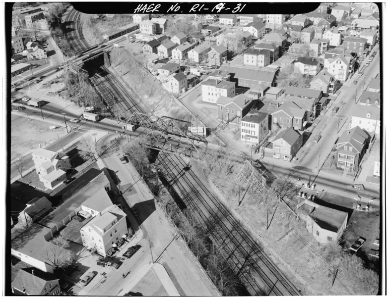 File:Londsdale Avenue Bridge. Pawtucket, Providence, Co., RI. Sec. 4116, mp 188.91. - Northeast Railroad Corridor, Amtrak route between CT and MA state lines, Providence, Providence HAER RI,4-PROV,174-31.tif