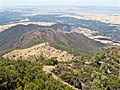 Looking down a ridge from the summit of Mount Diablo to the Sacramento River Delta. - P6193674 (27886189182).jpg