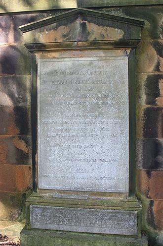 Edward Maitland, Lord Barcaple - Lord Barcaple's grave, Dean Cemetery