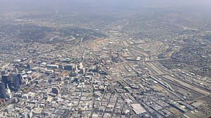 Downtown Los Angeles - Aerial view in 2014