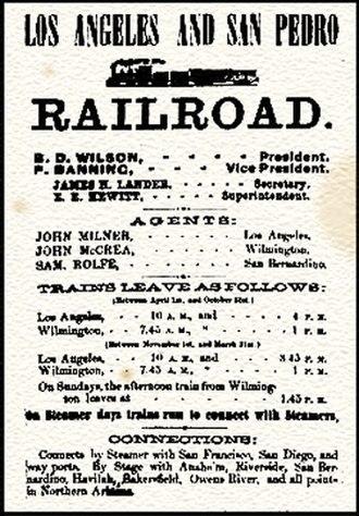 Los Angeles & San Pedro Railroad - Image: Los Angeles & San Pedro RR