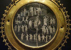 Lothair Crystal - Image: Lothair Crystal AD 855 869 (Carolingian Empire)