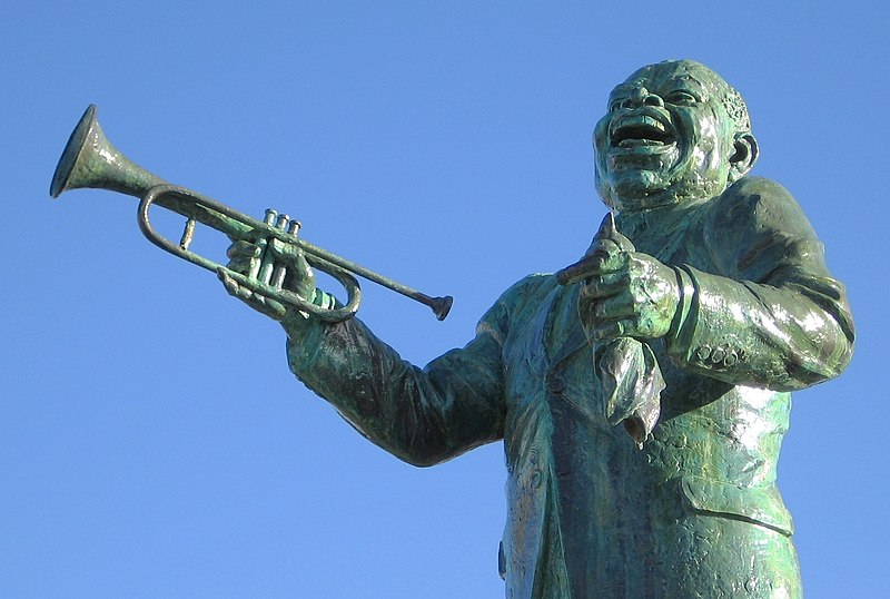 Louis Armstrong Statue at Algiers Ferry Landing in New Orleans