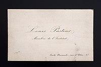 Louis Pasteur's visiting card, France, 1888-1896 Wellcome L0057280.jpg