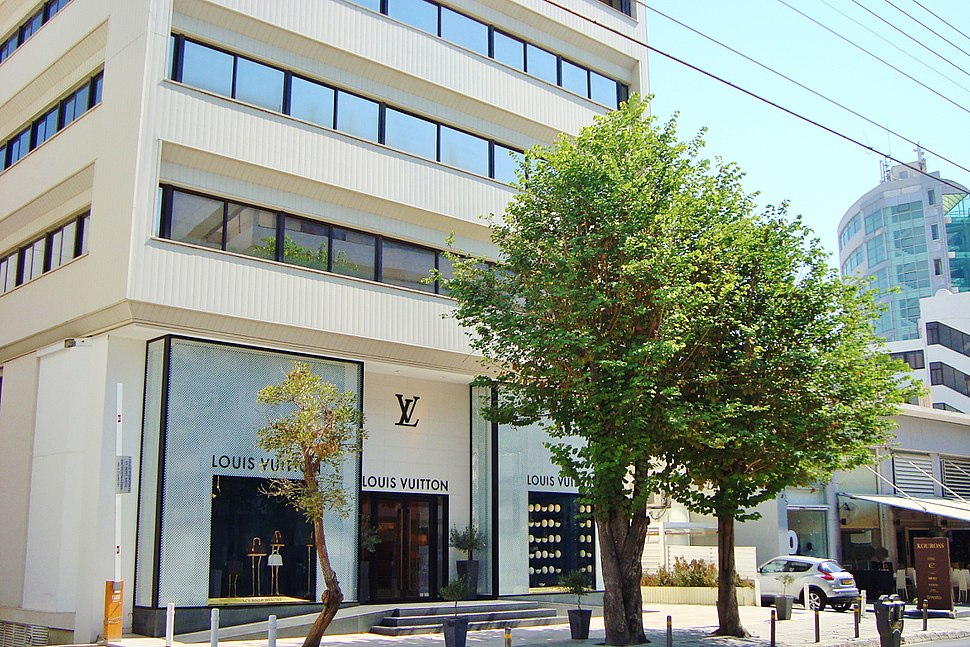 Louis Vuitton official store in Stasikratous street in Nicosia Republic of Cyprus