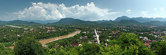 Luang Prabang - Panorama of south-east Louangphabang
