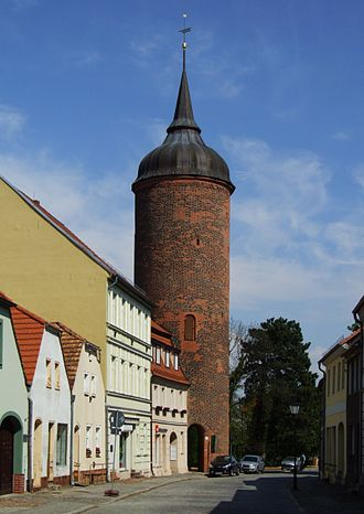 Luckau - The Red Tower, remnant of the city fortifications