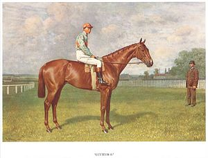 1909 Grand National - Lutteur III, portrait by Emil Adam