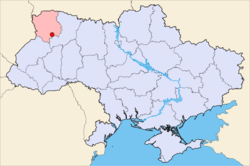 Location of Lutsk