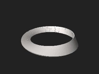 Möbius strip Two-dimensional surface with only one side and only one edge