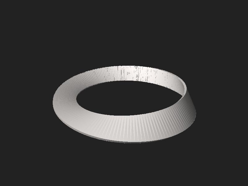File:Möbius strip (with thickness).stl