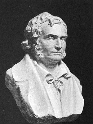 Poul Martin Møller - Bust of Møller by L. Hasselriis