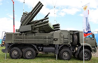 Pantsir missile system Type of Self-propelled anti-aircraft weapon