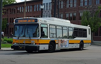 Newton and Boston Street Railway - Image: MBTA Neoplan AN440LF 0557