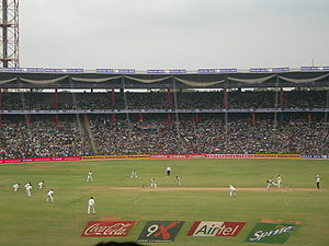 Cricketspiel im M. Chinnaswamy Stadium