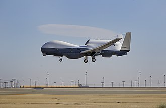 Northrop Grumman RQ-4 Global Hawk - The prototype MQ-4C on its first flight