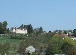 The chateau and other buildings in Saint-Gérand-le-Puy