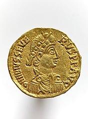 Solidus au nom de Sévère III 2000.14.235
