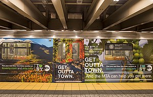 R62A (New York City Subway car) - Image: MTA and I Love NY campaign (10409857565)