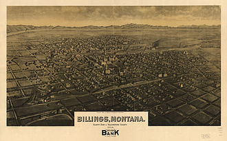 Billings, Montana - Panoramic map of Billings from 1904 by Henry Wellge