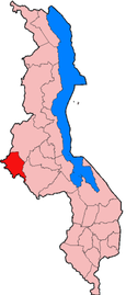 Location of Mchinji District in Malawi