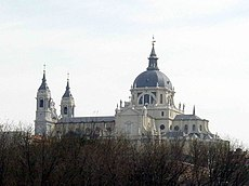 Almudena's Cathedral, next to the Royal Palace.