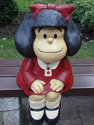Mafalda - A Mafalda statue at a park in Oviedo, Spain.