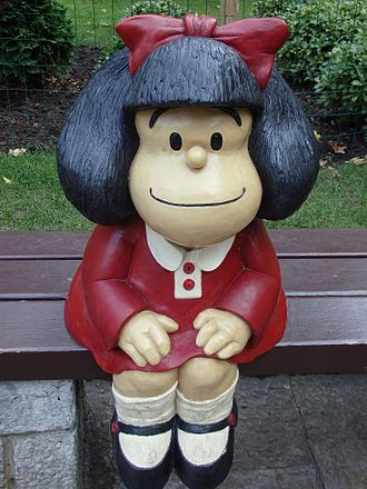 Mafalda - A Mafalda statue at a park in Oviedo, Spain.