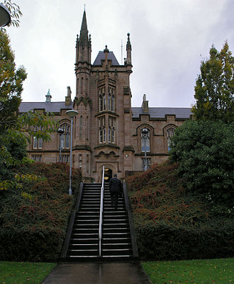 Magee College - The main building was built with Scottish freestone, and opened in 1865.