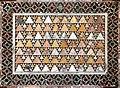 Magister paulus, frammento di decorazione cosmatesca a opus tessellatum alessandrino, xii secolo, probabilm. da antica basilica vaticana 03.jpg