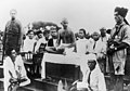 Mahatma Gandhi in Madras giving a speech before a group of boy scouts.jpg