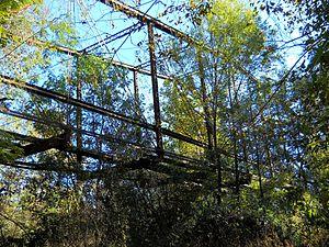 Mahned Bridge - Underside of camelback truss in 2014