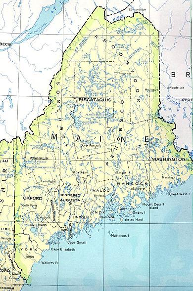 Carte Géographique Maine Usa | tonaartsenfotografie