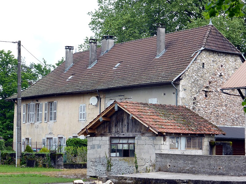 Fortified house of Commugnin, Yenne, Savoie, Auvergne-Rhône-Alpes, France.