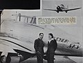 Major Alexander de Seversky with Jacqueline Cochran beside the Seversky in which she flew from Burbank, CA to Cleveland, OH in 8 hrs. and 10 min. to win the Bendix Trophy (16326542264).jpg