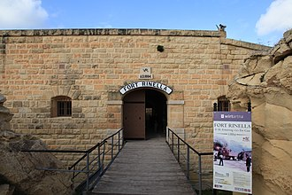 Fort Rinella - Entrance to Rinella Battery