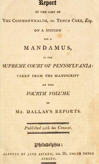 Jane Aitken - Image: Mandamus 1803