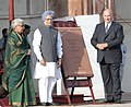 Manmohan Singh inaugurated the restored Humayun's Tomb, at a function, in New Delhi on September 18, 2013. The Prince Karim Aga Khan and the Union Minister for Culture, Smt. Chandresh Kumari Katoch are also seen.jpg