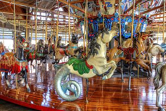 Mansfield, Ohio - Carousel horse, downtown Mansfield.